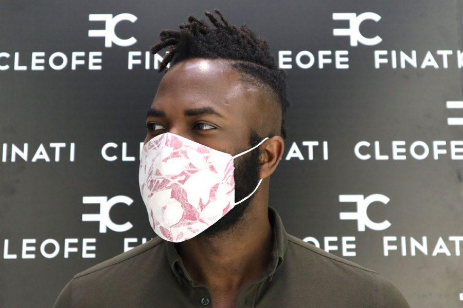 Tupil silk mask by Cleofe Finati