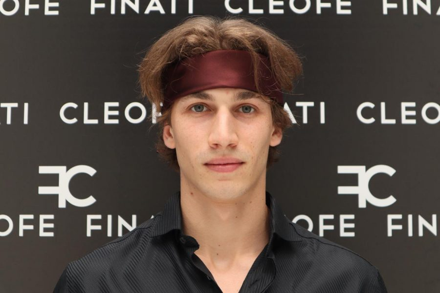 Silk bordeaux Headband & Hair Bandana Made in Italy for man and woman Dalia by Cleofe Finati