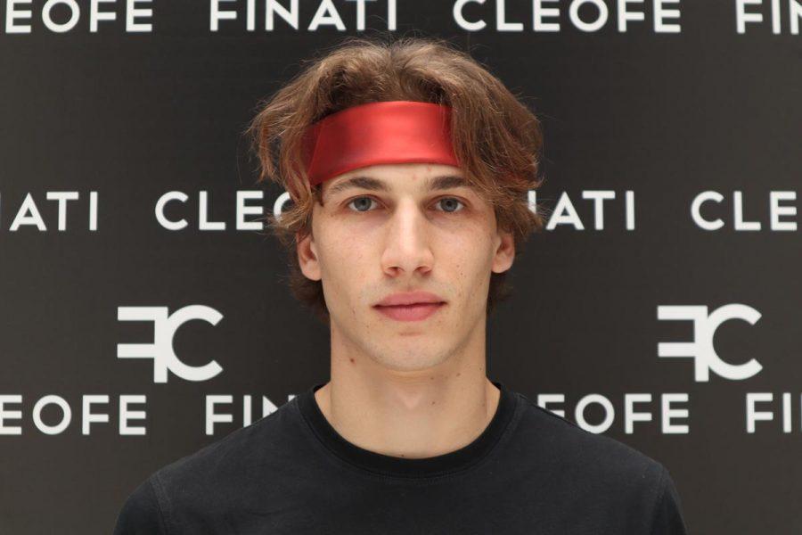 Silk Man Woman Headband &Hair Bandana red Made in Italy 100% Ibisco by Cleofe Finati