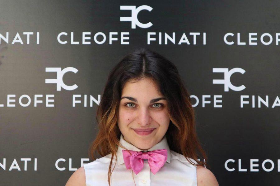 Cravattino Papillon fucsia in seta Made in Italy uomo donna bambino Strawberry by Cleofe Finati