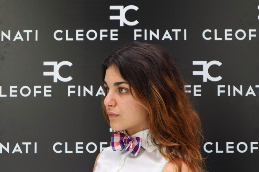 Glamourous pure silk 100% bow tie cinemas Pineapple by Cleofe Finati