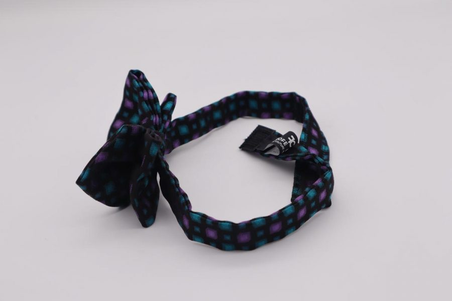 Silk blue and violet bow tie for man woman child Grape by Cleofe Finati