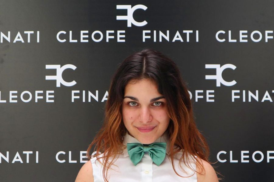Man's green bow tie woman's papillon little boys and girls' bow tie Lemon Made in Italy 100% by Cleofe Finati