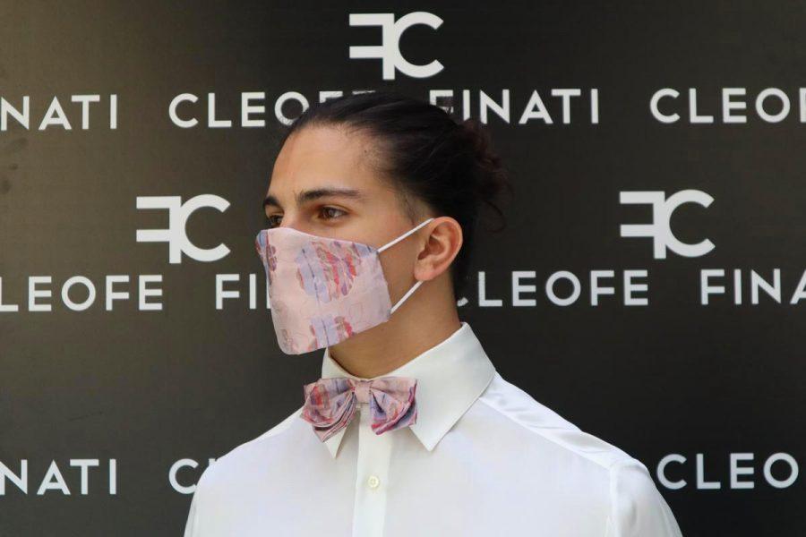 Papillon in seta cravattino uomo donna bambino Orange by Cleofe Finati
