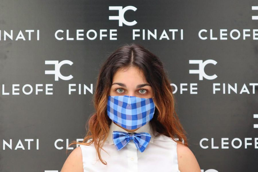Man's blue bow tie woman's papillon little boys and girls' bow tie Watermelon Made in Italy 100% by Cleofe Finati