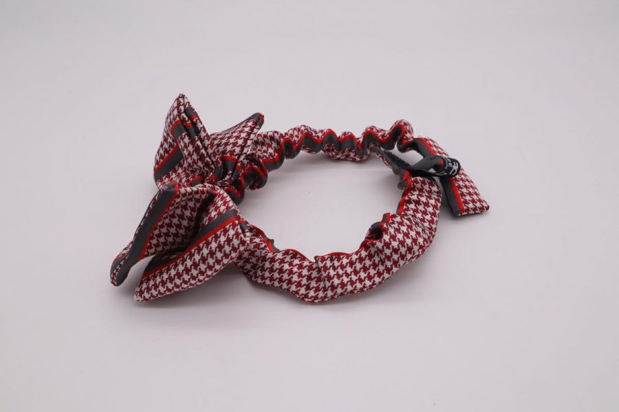 Glamourous pure silk 100% red bow tie cinemas Apple by Cleofe Finati