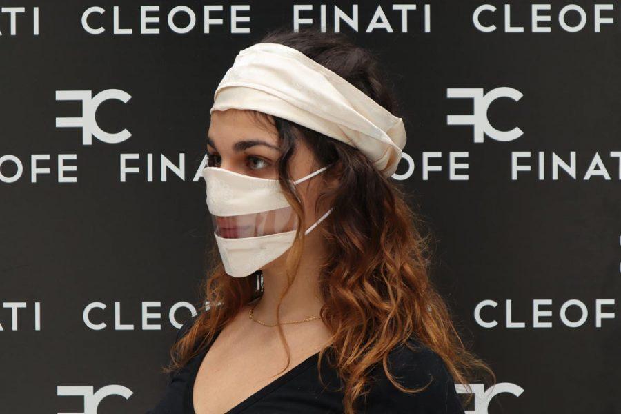 Silk white Deaf-friendly Mask Biancospino by Cleofe Finati