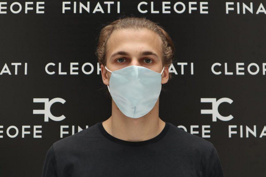 Unisex mask in silk Giglio by Cleofe Finati
