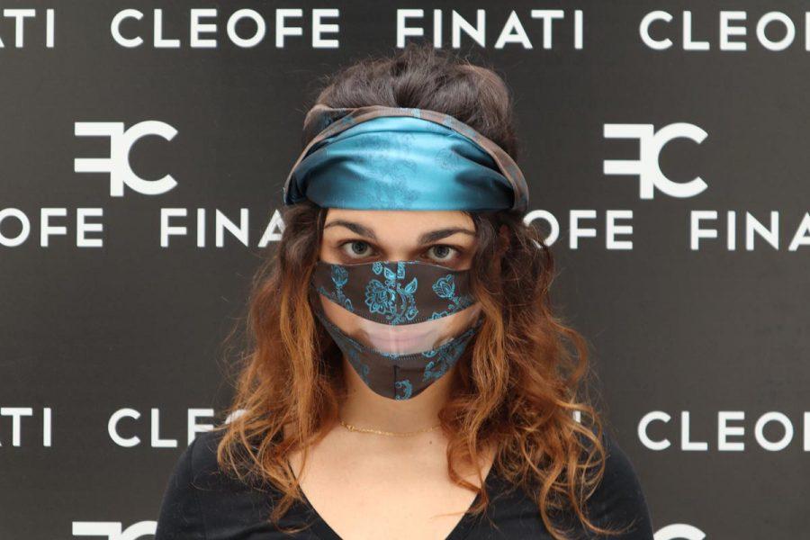Mascherina DEL SORRISO in SETA Bergenia by Cleofe Finati