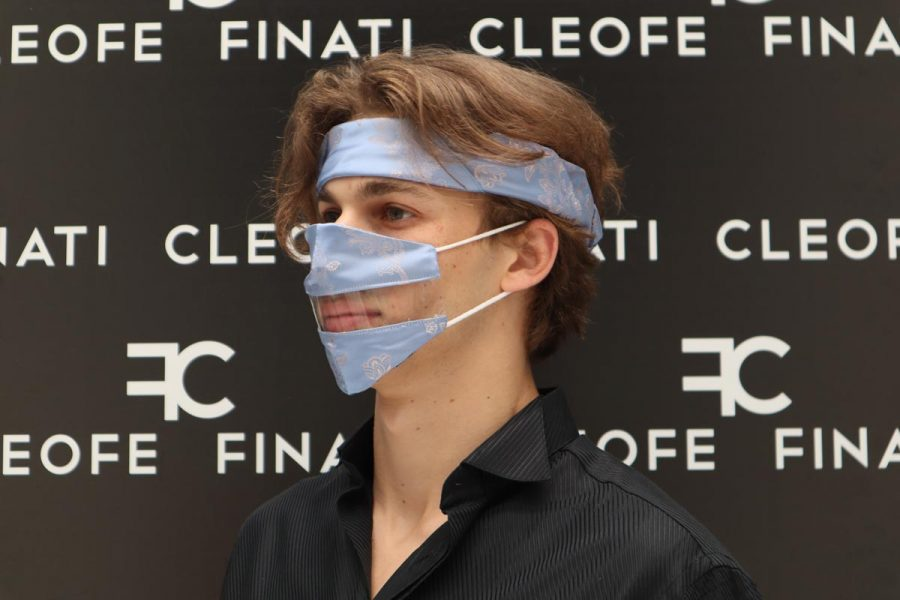Silk Deaf-friendly Mask Ortensia by Cleofe Finati