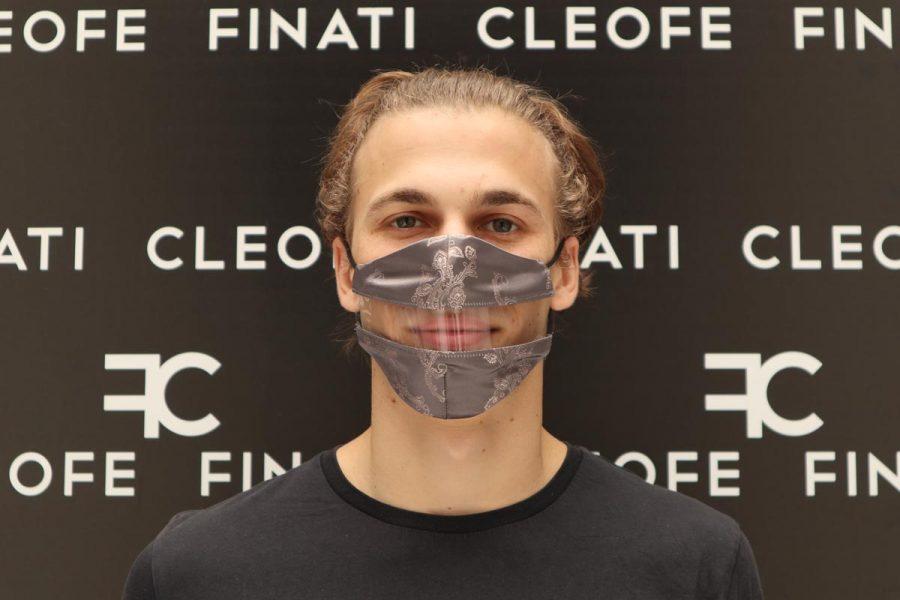 Silk glamorous Deaf-friendly Mask Camelia by Cleofe Finati