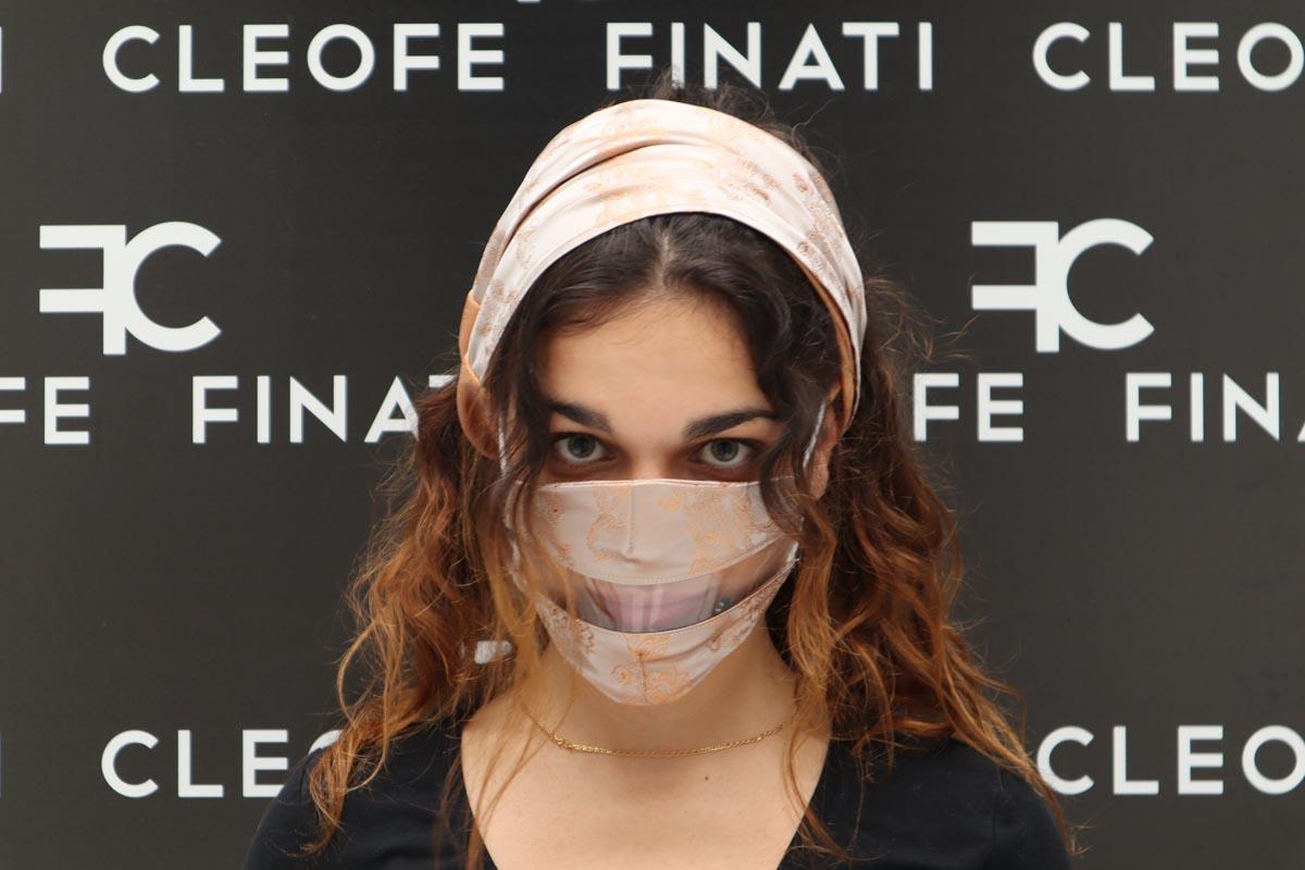 Silk glamorous Deaf-friendly Mask Narciso by Cleofe Finati