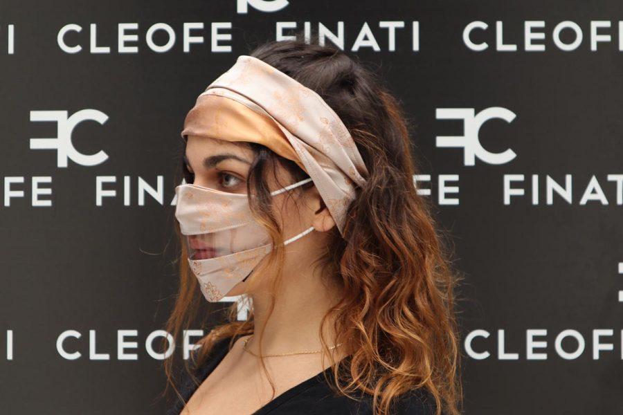 Mascherina DEL SORRISO in SETA glamour Narciso by Cleofe Finati
