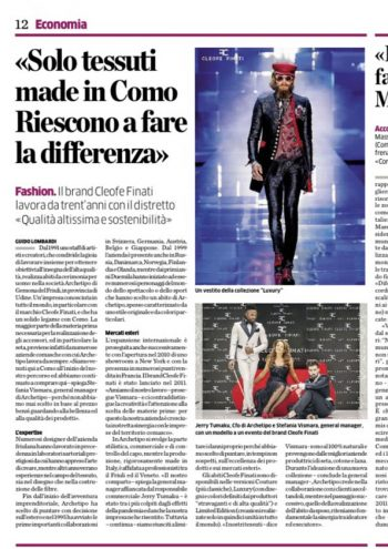 """Only fabrics made in Como. They SUCCEED IN MAKING the difference"""