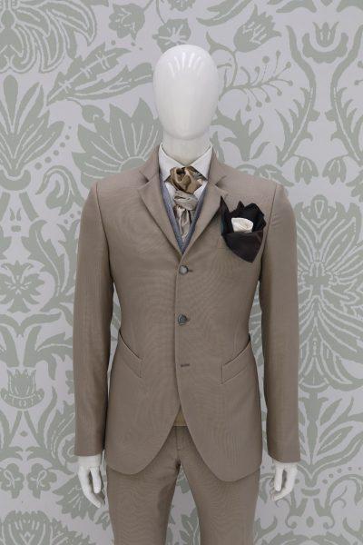Giacca abito da sposo fashion havana made in Italy 100% by Cleofe Finati